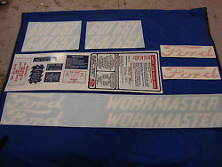 601 Ford Tractor Decal Set 601 641 651 661 Workmaster Gas Model 1958-1964 🎯