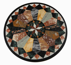 30and039and039 Marble Inlay Table Top Pietra Dura Home Garden Antique Coffee Decor Re