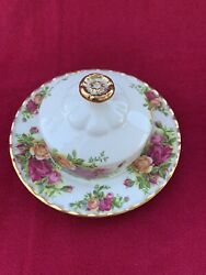 Royal Albert Old Country Roses Covered Butter Dish