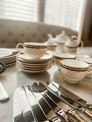 Discontinued Royal Doulton Baroness Dining Collection - Used In Good Condition