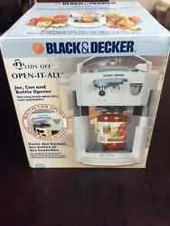 Black And Decker Electric Jar Opener Can Bottle Automatic Lids Off Jw400