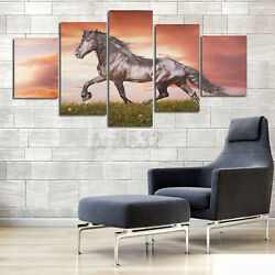 5Pcs Running Horse Modern Canvas Print Painting Wall Art Picture Home Decor