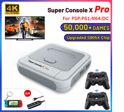 Super Wifi Gaming Console X Pro 4k Hd Tv Video Game Consoles For Ps1/psp/n64/dc