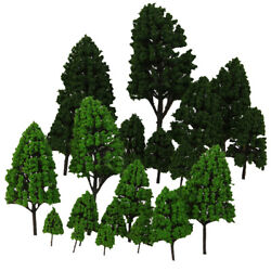 24pc Train Layout Model Trees 150-500 O-z Scale Park Forest Diorama Scenery