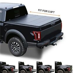 5.5and039 Hard Quad-fold Truck Bed For 2004-2014 F150 2006-2014 Mark Lt Tonneau Cover