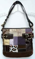 Coach Limited Edition Patchwork Suede Leather Shoulder or crossbody Women#x27;s bag $49.95