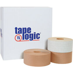 3 X 450and039 White Tape Logicandreg Reinforced Water Activated Tape - 100 Pcs