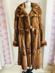 Exceptional Whisky Mink Swing Coat Nwot