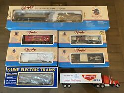 Yuengling K-line Limited Edition Signature Series Train Set O-scale With Bonus