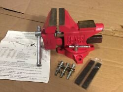 Vintage Sears 4-1/2'' Jaw Anvil Bench Pipe Vise Cast Iron Vice Red