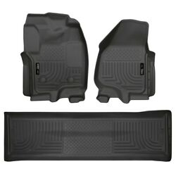 99711 Husky Liners Floor Mats Front New Black For F250 Truck F350 F450 Ford