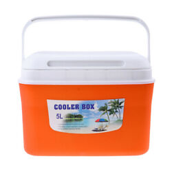 Lightweight 5l/13l Drinks Food Cooler Box With Handle For Camping Picnic Bbq