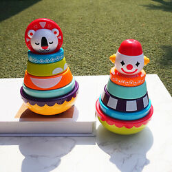 Stacking Rings Weeble Wobble Toys Educational Toys For 3 6 9 12 Months Kids