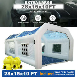 Pro Inflatable Paint Booth 28x15x11ft With Blowers And Air Filter System Us