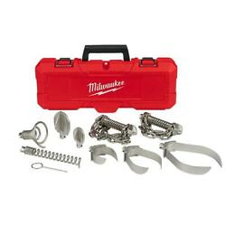 Milwaukee Drain Cleaning Drum Cable Head Attachment Kit 5/8 3/4 Inch 9 Piece