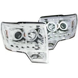 111297 Anzo Headlight Lamp Driver And Passenger Side New For F150 Truck Lh Rh Ford