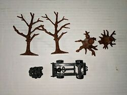 Marx Reissue Castle Noble Knights Catapult And Trees