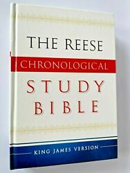 The Reese Chronological Study Bible King James Version Hardcover 2016 Like New