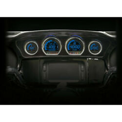 Koso North America Hd-03 Four Piece Gauge Kit Red Blue Harley Touring 14-19