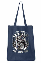 Large Canvas Shopping Travel Beach Tote Bag w Don#x27;t Tread On Me Snake Design $19.95