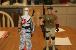 12 Inch Gi Joe Hasbro Action Figures Lot Of 2 With Stands