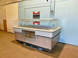 Amtekco Commercial High-end Lighted Full-service Cold Food Salad Buffet Island