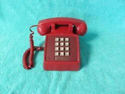 Western Electric Red 2500mg Push Button Touch Tone Telephone