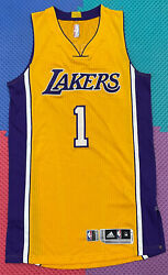 Lakers D'angelo Russell Size Medium Team Issued Pro Cut Jersey Rev30 Mesh Kobe