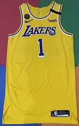 Lakers Team Issued Kentavious Caldwell-pope 48+6 Finals Bubble pro Cut Jersey