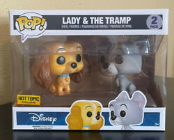 Funko Pop Disney Lady And The Tramp 2 Pack Hot Topic Exclusive Free Shipping