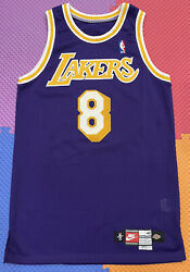Lakers Kobe Bryant 42+4 Team Issued Authentic Pro Cut Jersey 1997-98 Nike 8
