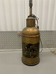 Antique Mid 19th Century Chinoiserie Decorated Tea Canister Lamp From The 1800s