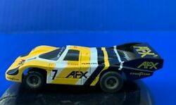 Vintage Tomy Afx Turbo Ho Scale 7 Goodyear Porsche 962 Slot Car Untested Clean