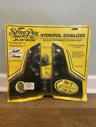 Nos Stingray Junior Hydrofoil Stabilizer Fin Whale Tail Black Up To 40hp Boats