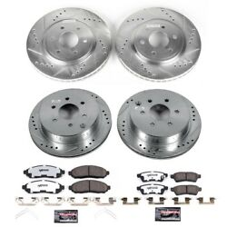 K4062-36 Powerstop Brake Disc And Pad Kits 4-wheel Set Front And Rear New