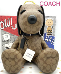New 2021coach X Peanuts Snoopy Collectible Signature Canvas Khaki Limited Doll