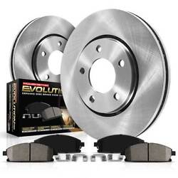 Koe1931 Powerstop 2-wheel Set Brake Disc And Pad Kits Front New For Explorer
