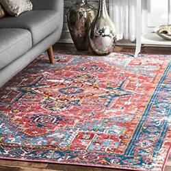 Nuloom Florence Vintage Persian Area Rug 8and039 X 10and039 Red