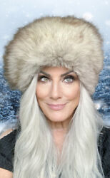 Vintage Christian Dior 1960s Fox Fur Hat Dr. Zhivago Huge And Large Size Womens
