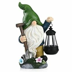 Garden Gnome Statue,funny Garden Gnomes With Solar Led Lights,large Garden