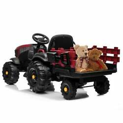 Tractor Ride On Car Agricultural Vehicle Toy Kids With Rear Bucket 12-volt 7ah