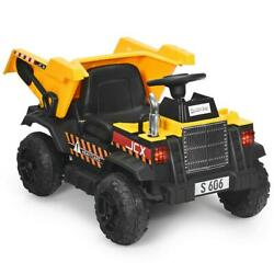 Construction Tractor 12v Kids Ride On Dump Truck Remote Control Electric Bucket