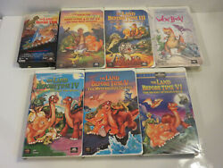 The Land Before Time Ii Iii Iv V Vi We're Back Dinsosaur 8 Vhs Collection Lot