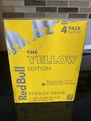 Red Bull Yellow Tropical Energy Drink 8.4 Oz 3 Pack - 12 Cans Total