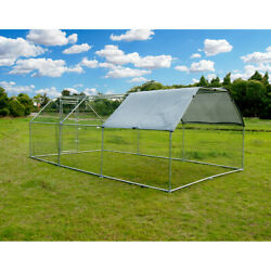 Chicken Dog Large Metal Coop Spire Shaped Hen Run House Cover Waterproof Hutches