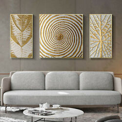 3Pcs Abstract Canvas Geometric Painting Living Room Home Wall Art Deco Frameless