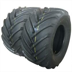 Set Of 2 26x12.00-12 Lawn Mower Tractor Tires 4 Ply P310 26x12-12 Tubeless