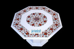 27 Marble Dining Table Top Lapis Lazuli Gems Inlay Work Home With Stand Re