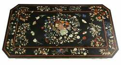 4'x2.5' Antique Marble Coffee Table Top Multi Mosaic Stone Inlay Kitchen Er