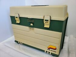 Vintage Plano Tackle Fishing Box Usa 787 Full Of Lures Bait Reel New And Old